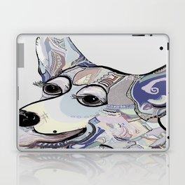 Corgi in Denim Colors Laptop & iPad Skin