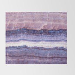 Azul marble Throw Blanket