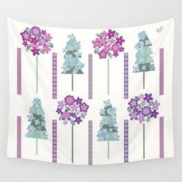 Geometric flowers Wall Tapestry