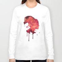 women Long Sleeve T-shirts featuring Women by Marta Kozłowska