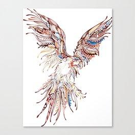 Tribal Macaw Canvas Print