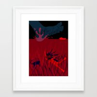 diver Framed Art Prints featuring Diver by Claudia Noronha