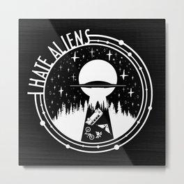 I Love Aliens Metal Print