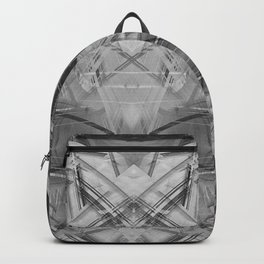 Black and white abstract pattern Backpack