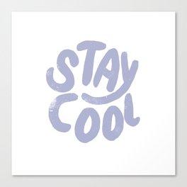 Stay Cool Vintage Lavender Canvas Print