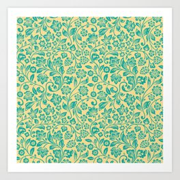 Flora Pattern Twelve Art Print