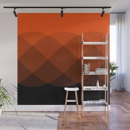Orange to Black Ombre Signal Wall Mural