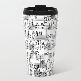 Handwritten Sheet Music Travel Mug