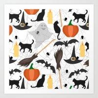 halloween Art Prints featuring Halloween by Julia Badeeva