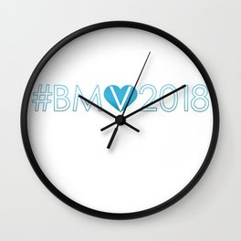 #BMV2018 Blu Wall Clock
