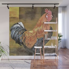 Keeping Chickens Farmyard Rooster Wall Mural
