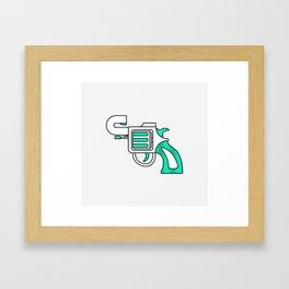 Karma Gun Framed Art Print