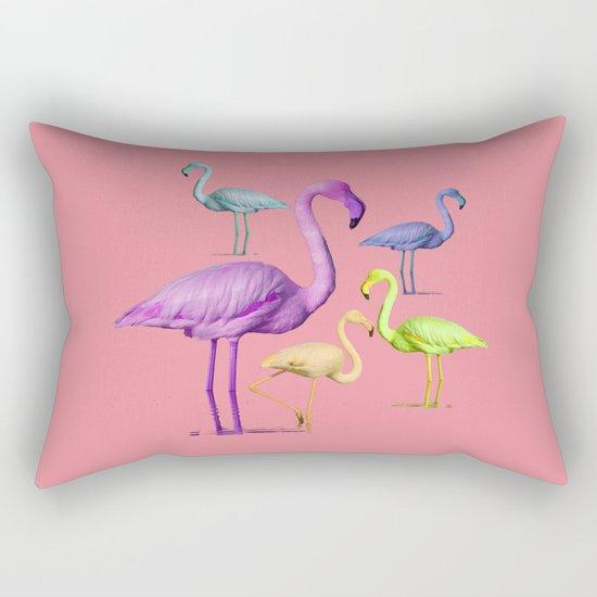 flamingo party-pink Rectangular Pillow