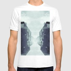 city in the sky White MEDIUM Mens Fitted Tee