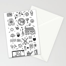 Summer Vectors Stationery Cards