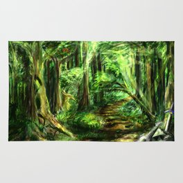The Great Gaming Forest Rug