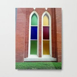 Stained Glass Windows 1 Metal Print
