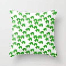Pixel by pixel – Turtle Throw Pillow