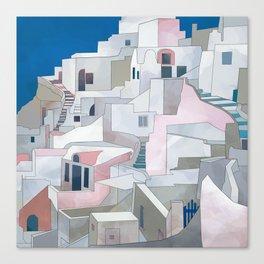 greece houses santorini Canvas Print