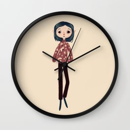 Be Wise, Be Brave, Be Tricky Wall Clock
