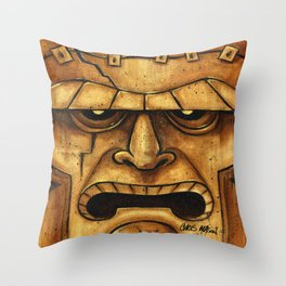 TIKI Frankenstein Throw Pillow