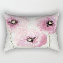 Pink Vintage Poppies Rectangular Pillow