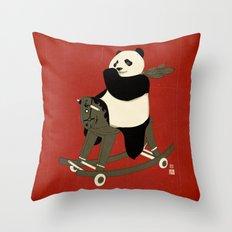 Keep Rolling Throw Pillow