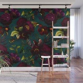 Before Midnight Vintage Flowers Garden Wall Mural