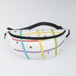 Good vibes only, colorful lines Fanny Pack