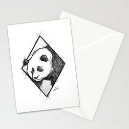 Panda Handmade Drawing, Made in pencil, charcoal and ink, Tattoo Sketch, Tattoo Flash, Sketch Stationery Cards