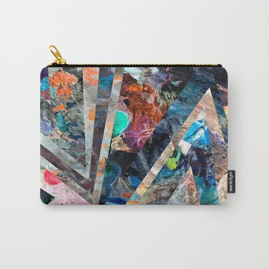 Triangle Forest Abstract Rainbow Carry-All Pouch