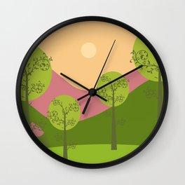 Kawai landscape breaking Dawn Wall Clock