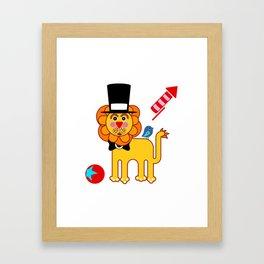 Mr Lion Framed Art Print