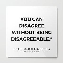 33     191115   Ruth Bader Ginsburg Quotes Metal Print