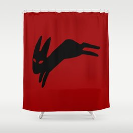 Black Rabbit Shower Curtain