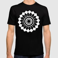 Grey mandala Black Mens Fitted Tee MEDIUM