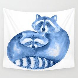 Pair of raccoons Wall Tapestry