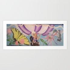 Magic Balloon Ride Art Print
