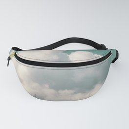 Mint Skies and White Fluffy Clouds #2 Fanny Pack