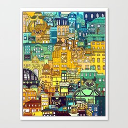 Shopping District Canvas Print