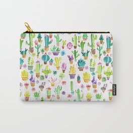 Happy Cactuses Carry-All Pouch
