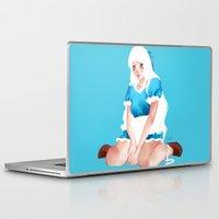 alice wonderland Laptop & iPad Skins featuring Wonderland by Muzhur n' Leaevra