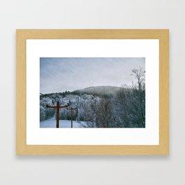 The Old Ski Lift Framed Art Print