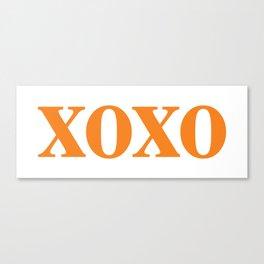 Orange XOXO Canvas Print