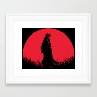 inuyasha Framed Art Prints featuring Red Moon Inuyasha by Timeless-Id