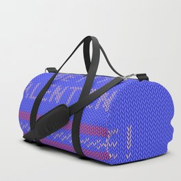 Knitted background with hearts Duffle Bag