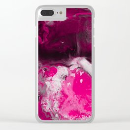 Abstract Ultra Violet Clear iPhone Case