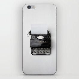 typewriter #society6 #decor #buyart iPhone Skin