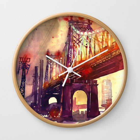 Queensboro Bridge Wall Clock