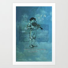 Music and Feelings Art Print